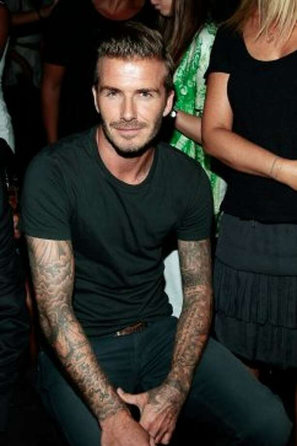 David Beckham attends the Y-3 10th Anniversary Collection show during Mercedes-Benz Fashion Week. (Joe Kohen / Getty Images for Y-3)