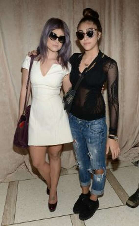 Kelly Osbourne and Madonna's daughter, Lourdes Maria Ciccone Leon, attend the Zac Posen Spring 2013 show during Mercedes-Benz Fashion Week. (Dimitrios Kambouris / 2012 Getty Images)