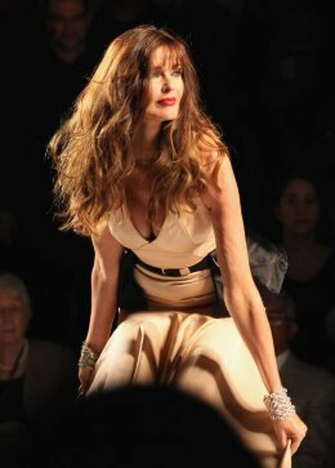 Model Carol Alt walks the runway at the Norisol Ferrari Spring 2013 show during Mercedes-Benz Fashion Week. (Chelsea Lauren / 2012 Getty Images)