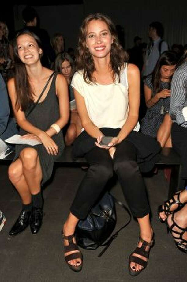 Model Christy Turlington attends the Rag & Bone show during Mercedes-Benz Fashion Week. (D Dipasupil / Getty Images)