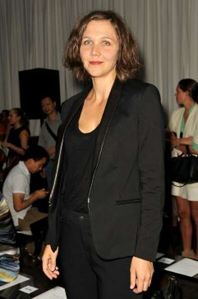 Actress Maggie Gyllenhaal attends the Rag & Bone show during Mercedes-Benz Fashion Week. (D Dipasupi