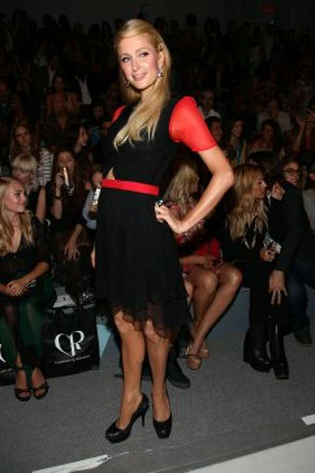 Paris Hilton attends the Charlotte Ronson Spring 2013 show during Mercedes-Benz Fashion Week. (Paul Zimmerman / 2012 Getty Images)