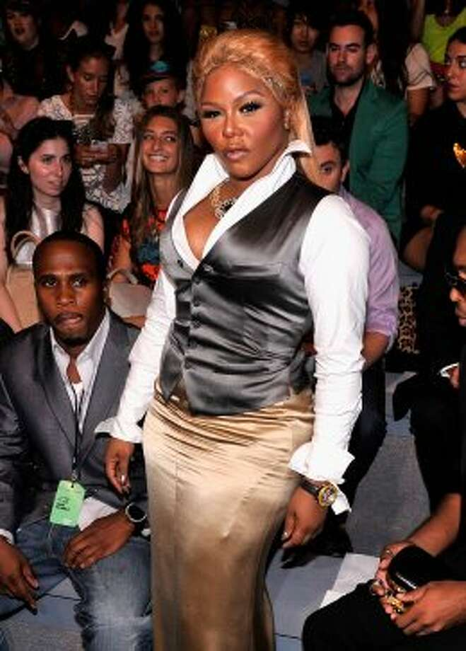 Rapper Lil' Kim attends the Mara Hoffman Spring 2013 show during Mercedes-Benz Fashion Week. (Stephen Lovekin / 2012 Getty Images)