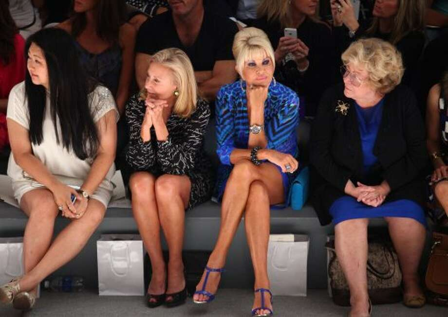 Ivana Trump, second from right, attends the Zang Toi Spring 2013 show during Mercedes-Benz Fashion Week. (Astrid Stawiarz / 2012 Getty Images)