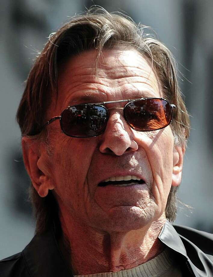"Nimoy hits another one out of the galaxy. This time it's ""If I Had a Hammer."" Photo: ROBYN BECK, AFP/Getty Images / AFP"