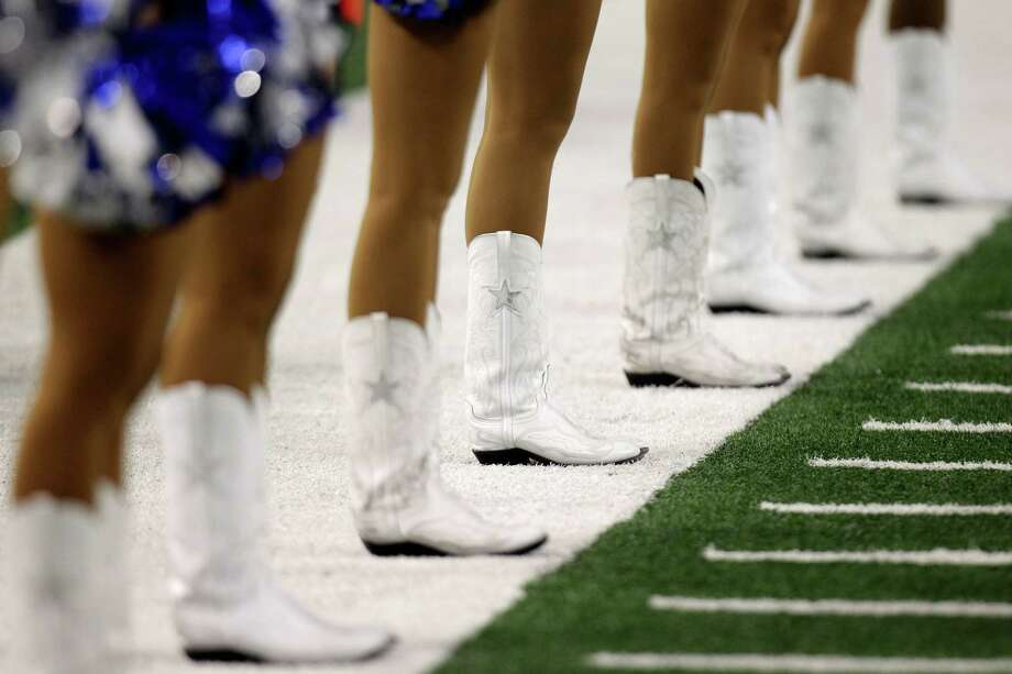 Dallas Cowboys cheerleaders during the second half of a preseason NFL football game, Wednesday, Aug. 29, 2012, in Arlington, Texas. (AP Photo/LM Otero) Photo: LM Otero, Associated Press / AP