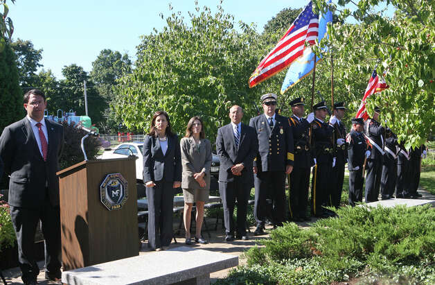 The city of Milford holds a 9/11 remembrance ceremony at Live Oaks School in Milford, Conn. on Monday. September 11, 2012. Photo: B.K. Angeletti / Connecticut Post freelance B.K. Angeletti