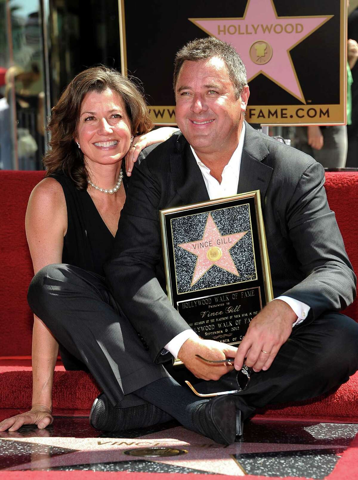 Gill (with wife Amy Grant) gets his Walk of Fame star.