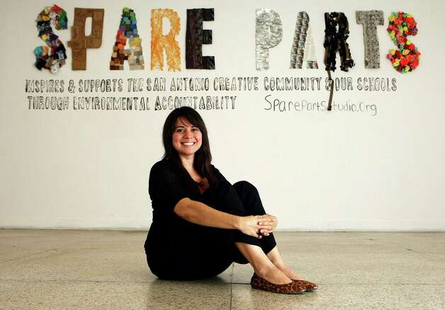 Mary Cantu is the founder of the nonprofit arts organization Spare Parts. Photo: Helen L. Montoya, San Antonio Express-News / ©SAN ANTONIO EXPRESS-NEWS