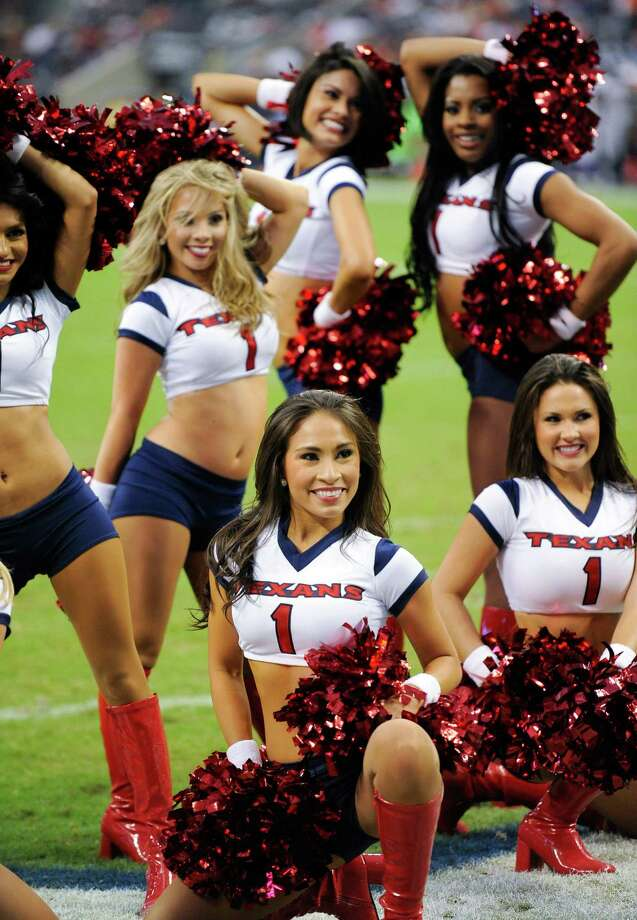 Houston Texans cheerleaders before an NFL preseason football game against the Minnesota Vikings, Thursday, Aug. 30, 2012 in Houston, Texas. (AP Photo/Dave Einsel) Photo: Dave Einsel, Associated Press / FR43584 AP