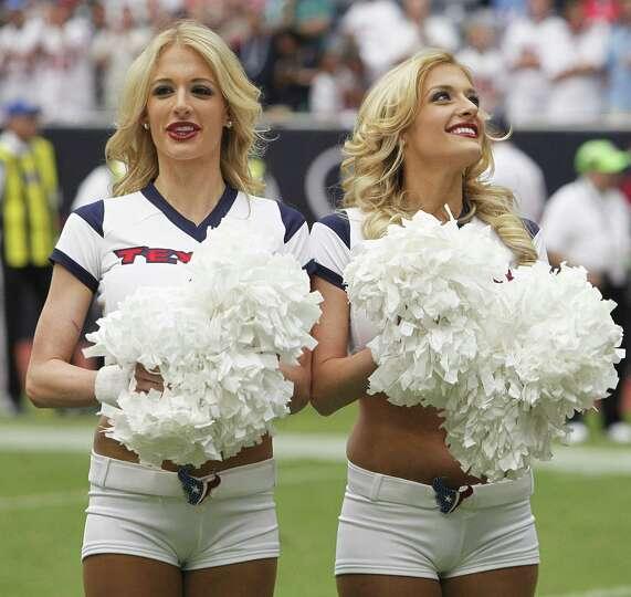 HOUSTON,TX - SEPTEMBER 09: Houston Texans cheerleaders perform before the Houston Texans play the Mi