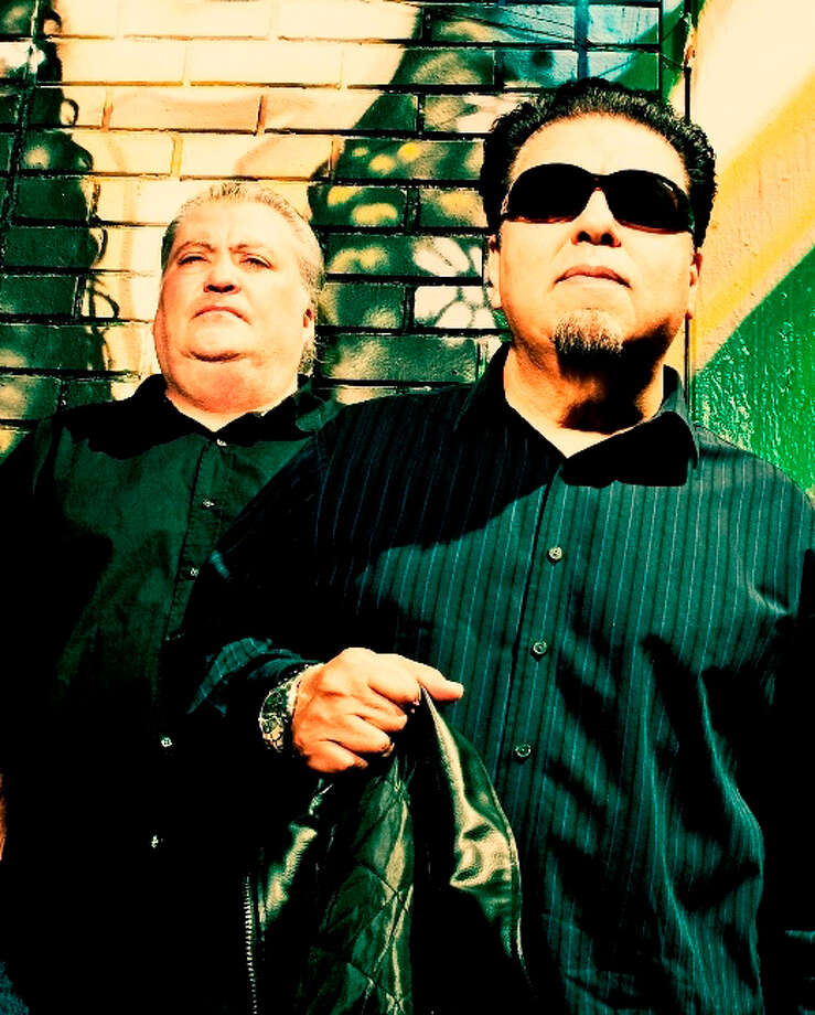 David Hidalgo and César Rosas of Los Lobos are part of the Latino roots-rock supergroup Los Super Seven. Photo: Courtesy Photo / ©2010 DREW REYNOLDS