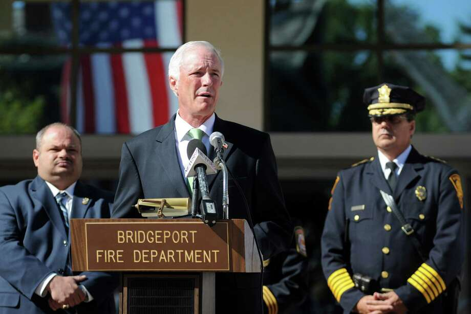 Mayor Bill Finch speaks at a ceremony to mark the 11th anniversary of the terrorist attacks on Sept. 11, 2001 with a brief speaking program at the Margaret E. Morton Government Center in Bridgeport, Conn. on Tuesday, Sept. 11, 2012. Photo: Cathy Zuraw / Connecticut Post