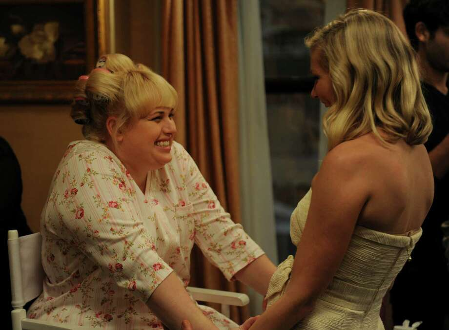 """Rebel Wilson, left, plays the straight woman, a sweet bride, and Kirsten Dunst is one of her hard-partying bridesmaids, in Leslye Headland's """"Bachelorette."""" Photo: Radius-TWC / RADIUS-TWC"""