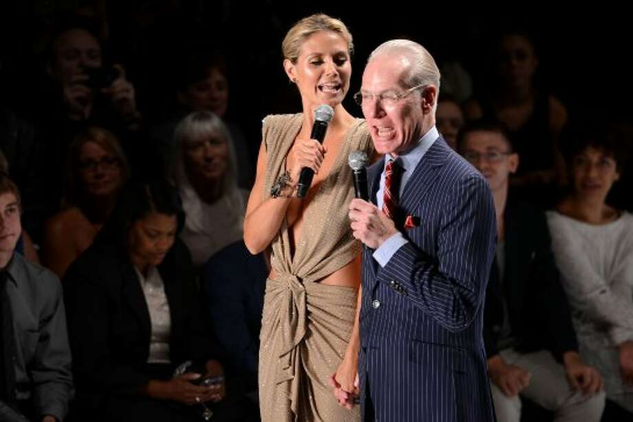 NEW YORK, NY - SEPTEMBER 07:  Model Heidi Klum and Tim Gunn attend the Project Runway Spring 2013 fashion show during Mercedes-Benz Fashion Week at The Theatre at Lincoln Center on September 7, 2012 in New York City.  (Photo by Stephen Lovekin/Getty Images for Mercedes-Benz Fashion Week) (Stephen Lovekin / 2012 Getty Images)