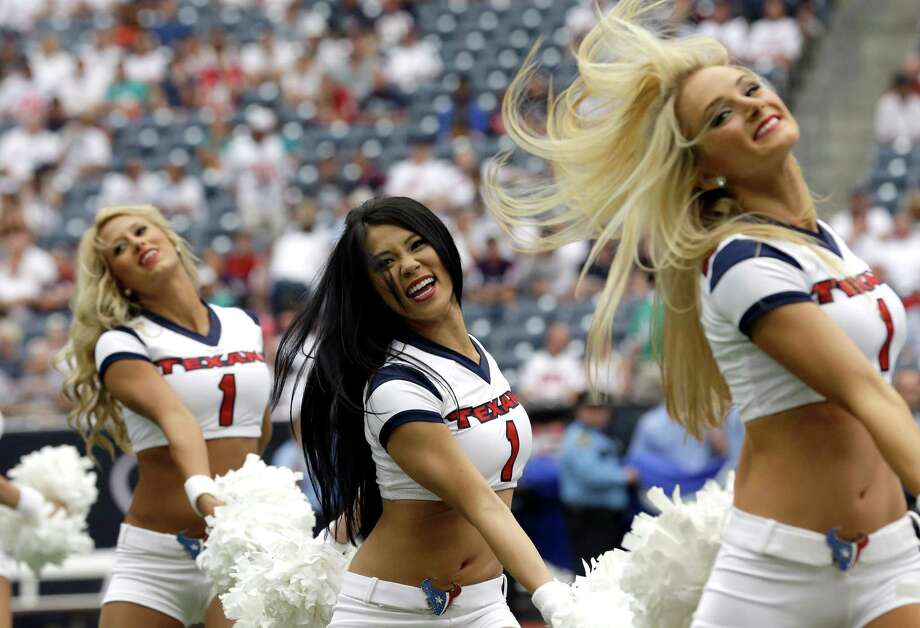 Houston Texans cheerleaders preform before an NFL football game against the Miami Dolphins Sunday, Sept. 9, 2012, in Houston. (AP Photo/David J. Phillip) Photo: David J. Phillip, Associated Press / AP
