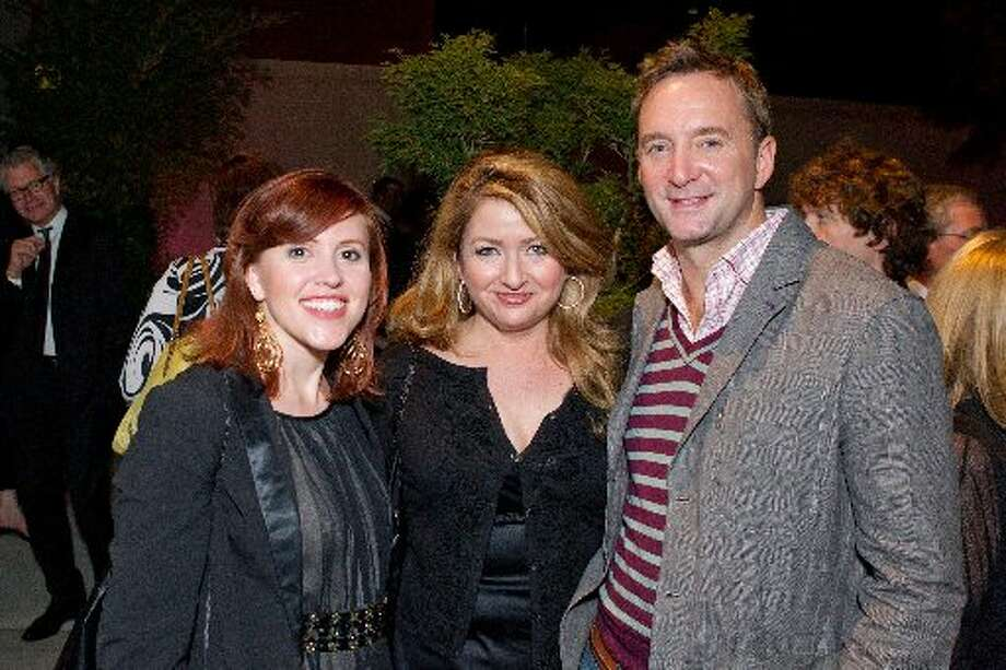 Clinton Kelly, far right, with attendees of the VIP party aty the Asian Art Museum following the Glamorama fashion show at the Orpheum Theater in 2010.  (Drew Altizer / Macy\'s Passport)