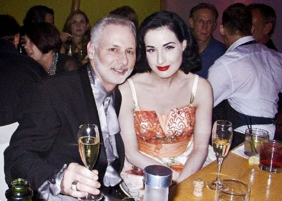 Larry Hashbarger (Passport producer/director) and MAC Viva Glam Spokesperson Dita Von Teese at the event's 2007 after party. (Matthew Scott / Macy\'s Passport)