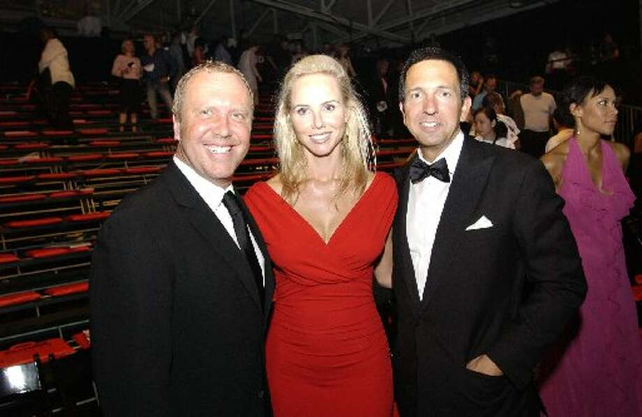 Designer Michael Kors, Vanessa Getty and Kors manager John Idle at Macy's Passport's Glamorama in 2004.  (Kristen Loken / Macy\'s Passport)