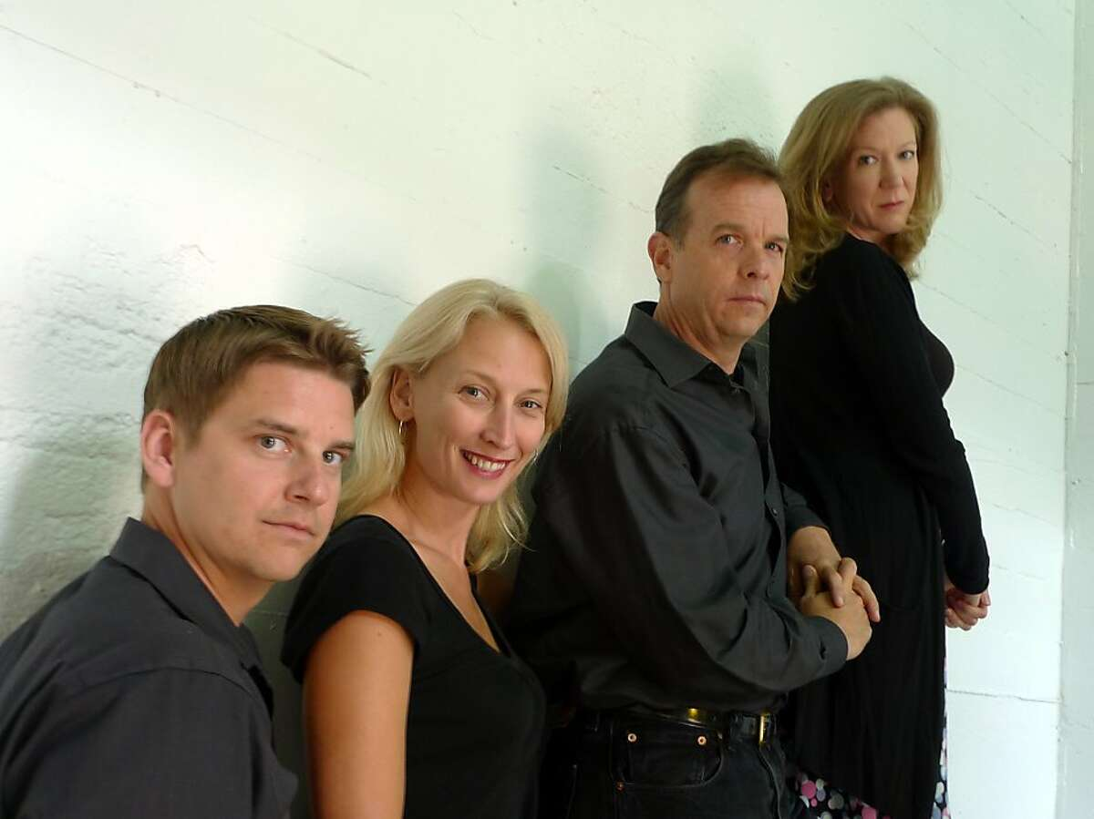 The cast of Magic Theatre's The Other Place includes, from left, Patrick Russell, Carrie Paff, Donald Sage Mackay and Henny Russell. Photo by Logan Ellis