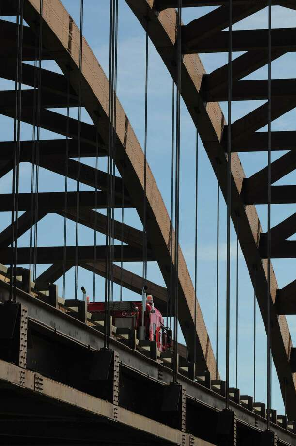 Thaddeus Kosciuszko Bridge viewed from Towpath Rd. in Clifton Park, N.Y., Tuesday Sep. 11, 2012. Roadwork on the northbound side of the Twin Bridges is scheduled to take place over the course of up to six weekends. The southbound deck will be replaced in the spring. (Will Waldron / Times Union) Photo: Will Waldron, Albany Times Union