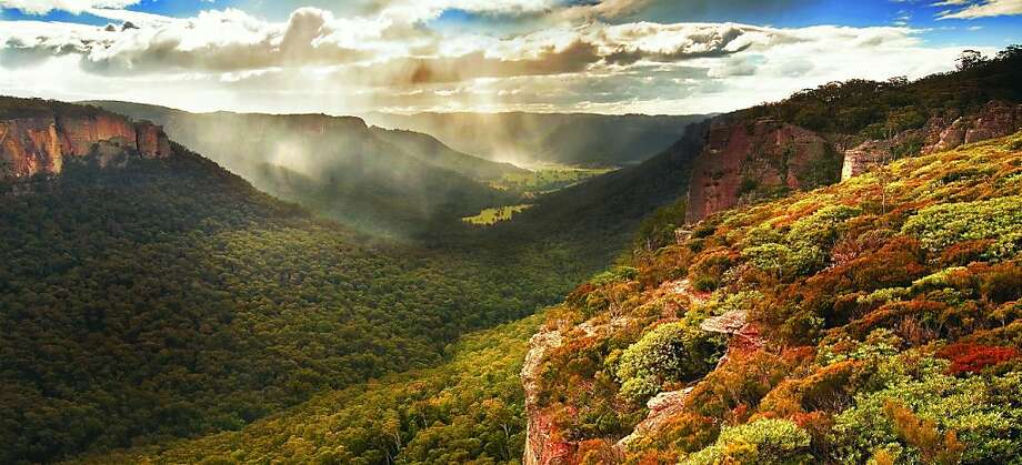 The Wolgan Valley is a largely undeveloped space that cuts past the Blue Mountains in New South Wales, Australia. Photo: Wolgan Valley Resort & Spa