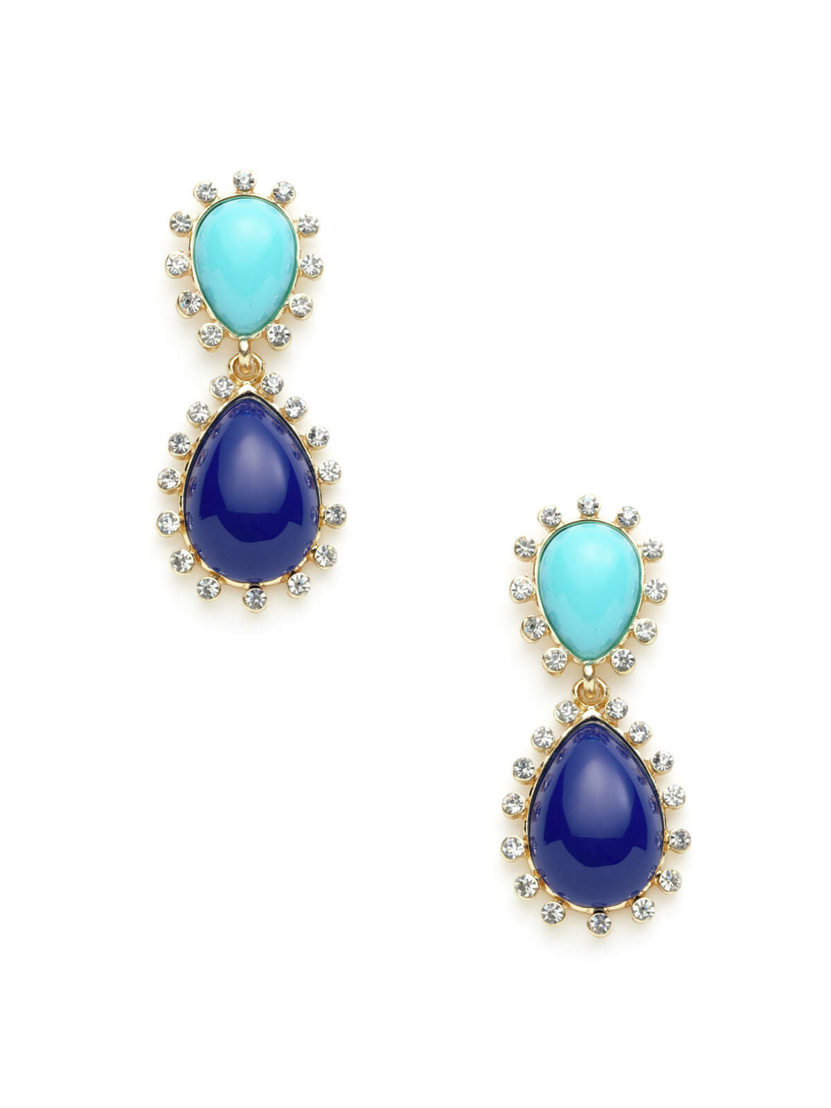 Kenneth Jay Lane lapis and turquoise earrings