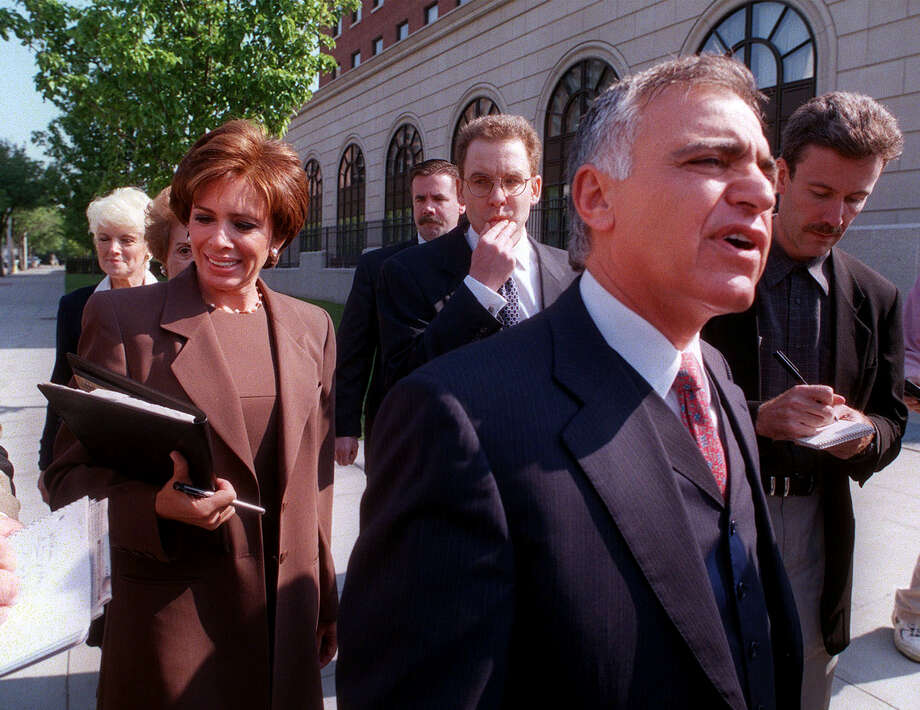 Albert Pirro and his then-wife, Westchester District Attorney Jeanine Pirro, arrive at U.S. District Court May 17, 2000, in White Plains, N.Y. (AP Photo/Mitch Jacobson) Photo: MITCH JACOBSON, ASSOCIATED PRESS / Associated Press