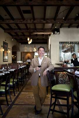 David Fink, founder and chief executive officer of Mirabel Hotel and Restaurant Group, at Cantinetta Luca, one of his restaurants, in Carmel, Calif., Friday, September 7, 2012.