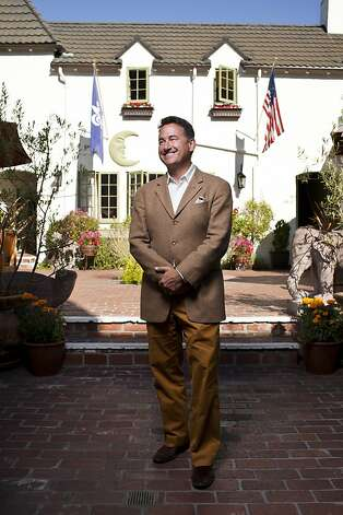 David Fink, founder and chief executive officer of Mirabel Hotel and Restaurant Group, outside his L'Auberge Carmel/Relais Chateaux Hotel in Carmel, Calif., Friday, September 7, 2012. Photo: Jason Henry, Special To The Chronicle