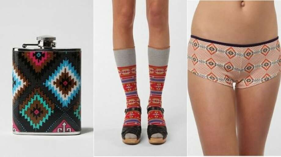 Urban Outfitters knocked off Native American tribal patterns for a line of products. The items, especially the Navajo print hipster panties, were seen as culturally insensitive and the Navajo Nation asked the company to pull the products.