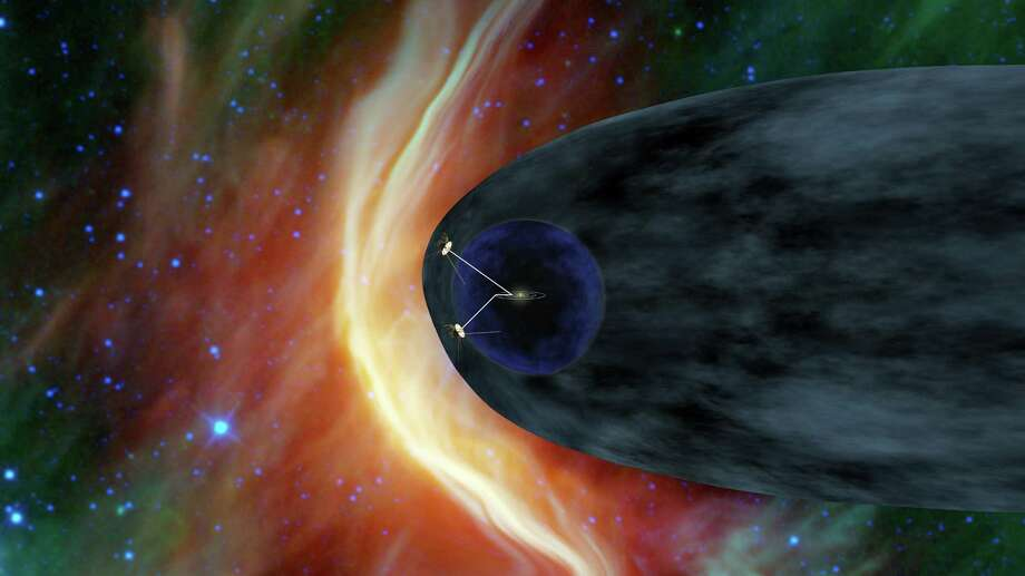 An artist's rendering provided by NASA shows the Voyager spacecraft barreling away from the sun. Launched in 1977, Voyager 1 is poised to cross into interstellar space. Former astronaut Mae Jemison's 100 Year Starship goal is to make sending humans to another star system a reality in the next 100 years. / NASA