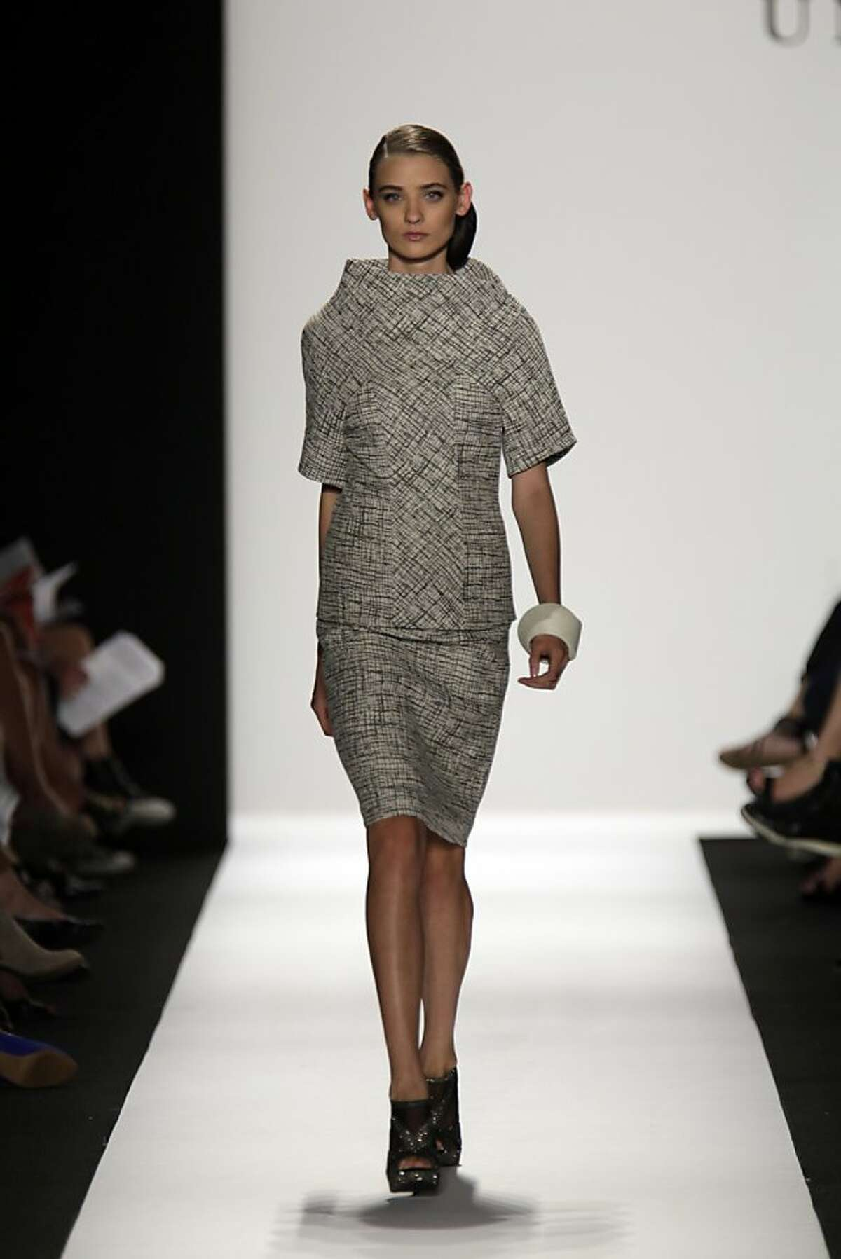 Runway looks by Tanja Milutinovic at the Academy of Art fashion show Sept. 27.