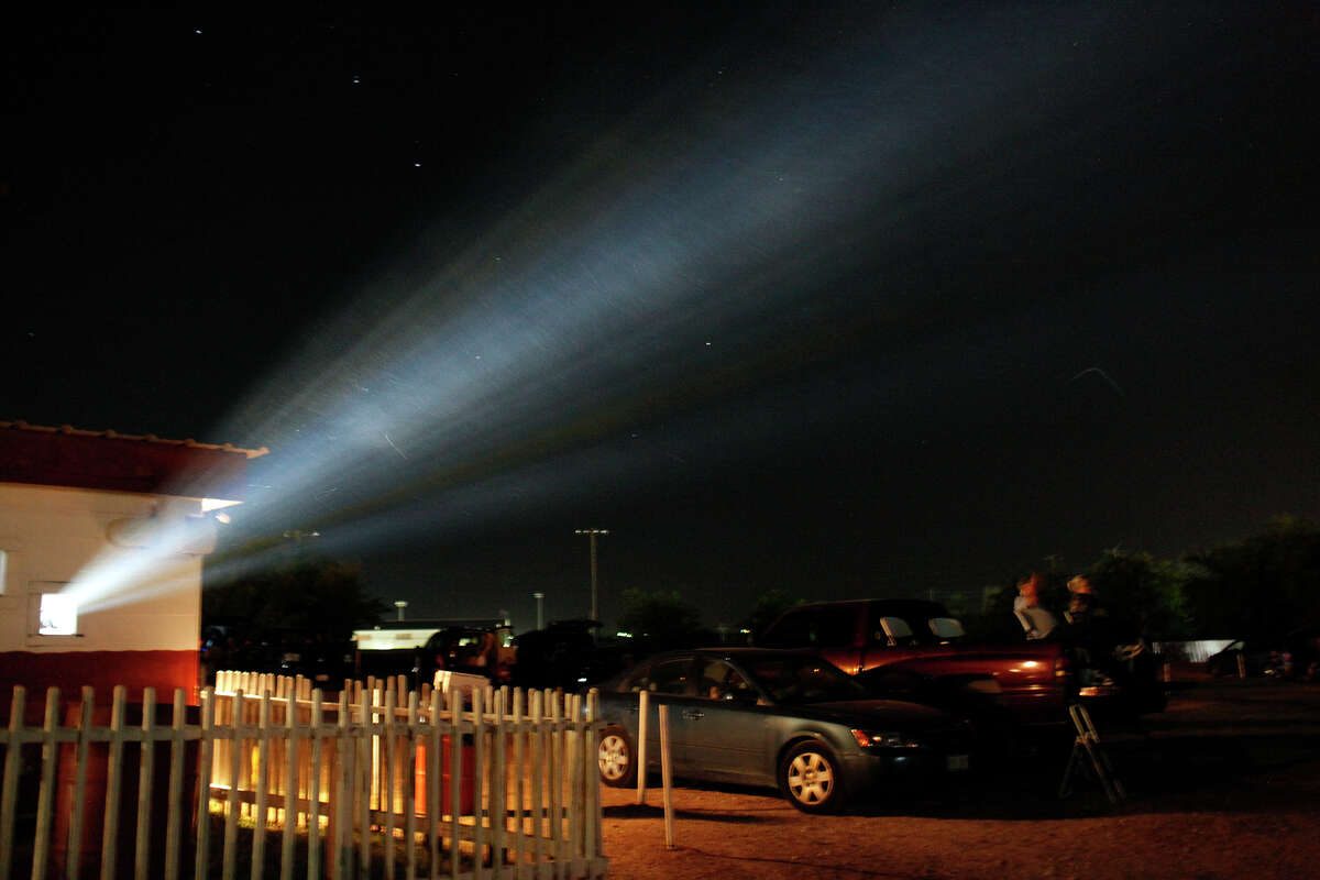 Men in Black 3 is projected at the Brazos Drive-in Theatre in Granbury on Saturday, August 11, 2012.