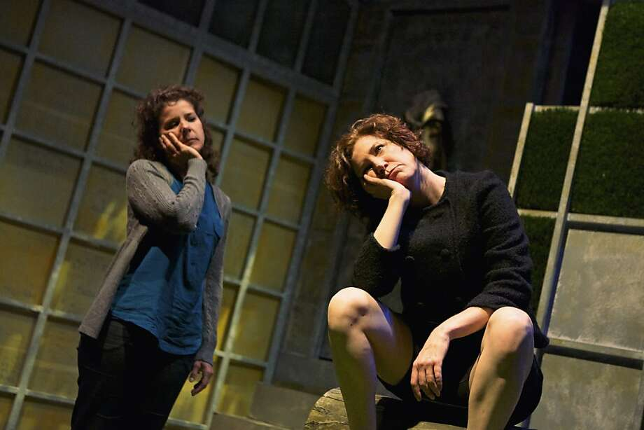 "Brodie (Zehra Berkman, left) communes with the Ape (Nancy Carlin) in Shotgun Players' ""Precious Little."" Photo: Pak Han"