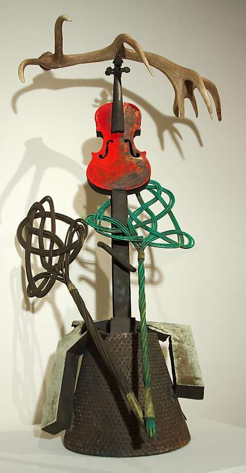 """Robert Hudson's """"E Flat,"""" a bronze and mixed-media collage, is part of """"Sound, Image, Object: The Intersection of Art and Music"""" at Sonoma State University. Photo: Michael Copley, Sonoma State University"""