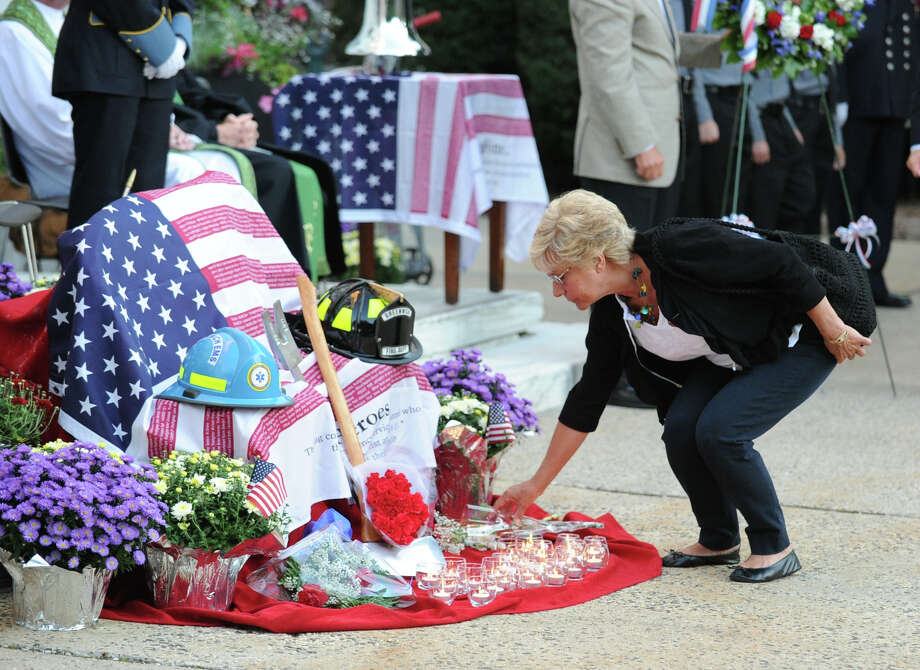 The 9/11 remembrance ceremony at Greenwich Town Hall, Tuesday night, Sept. 11, 2012. Photo: Bob Luckey / Greenwich Time