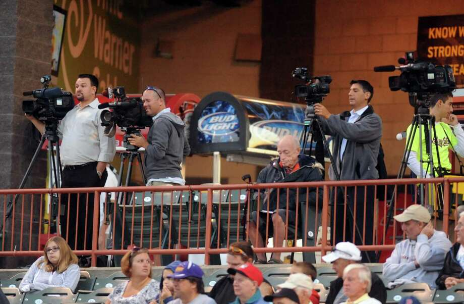 Local television media covers the ValleyCats during game one of the New York-Penn League final against Hudson Valley at Joe Bruno Stadium in Troy, NY Tuesday Sept. 11, 2012. (Michael P. Farrell/Times Union) Photo: Michael P. Farrell