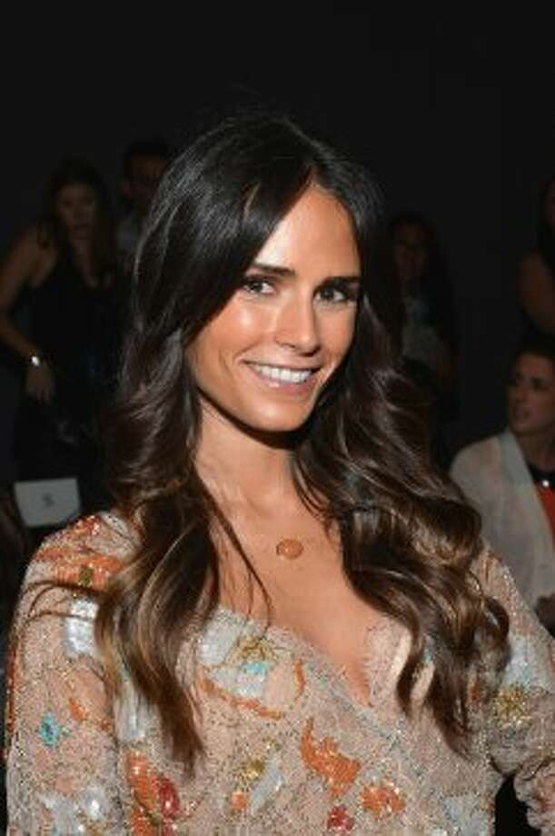 Jordana Brewster attends the Jenny Packham show during the Spring 2013 Mercedes-Benz Fashion Week.  (Mike Coppola / Getty Images)