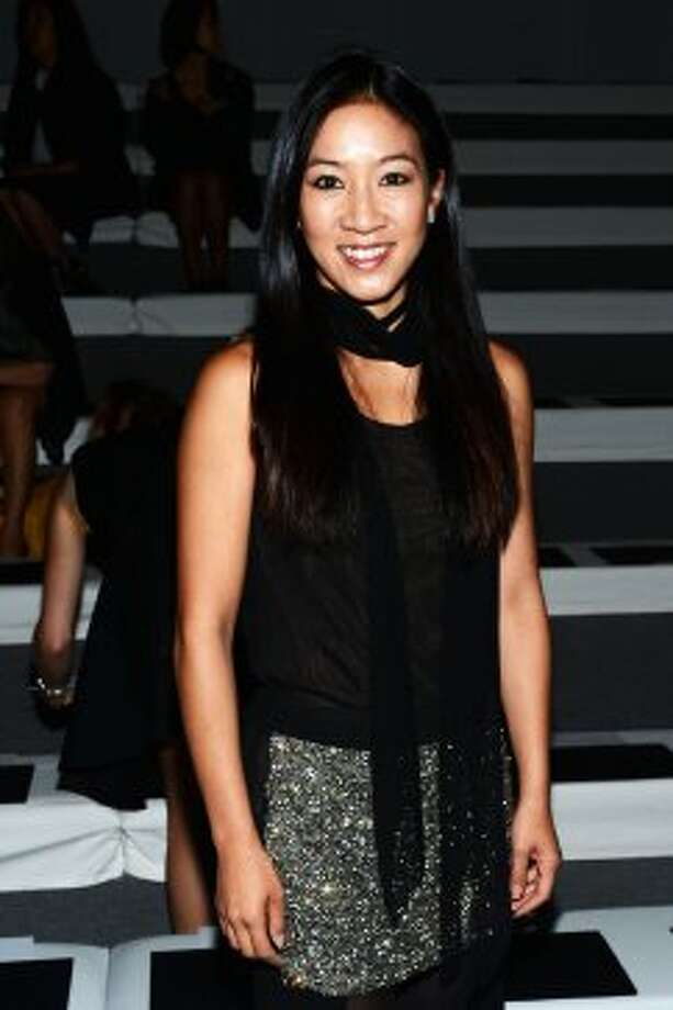 Michelle Kwan attends the Vera Wang show during the Spring 2013 Mercedes-Benz Fashion Week on Sept. 11, 2012. (Jason Kempin / Getty Images for Mercedes-Benz F)
