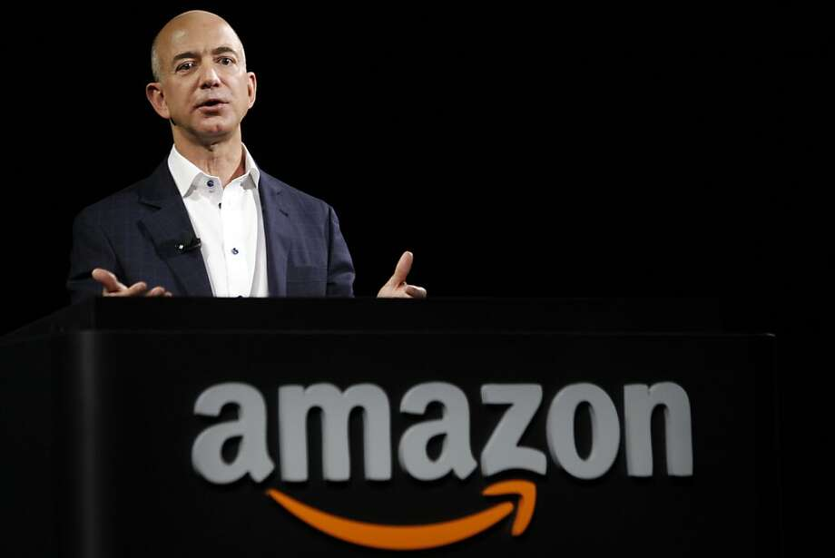 Amazon CEO Jeff Bezos last month introduced the Kindle Fire HD tablet, which is facing competition from new devices from Microsoft and Google. Photo: Patrick Fallon, Bloomberg