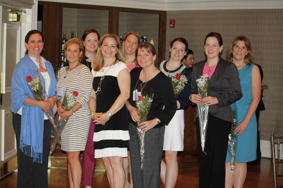 Junior League of Stamford-Norwalk named New Canaan residents Lisa Ferraro, Darcy Smith and Noelle Hughes to its board of directors. Above, new board members celebrate their appointments. Photo: Contributed Photo