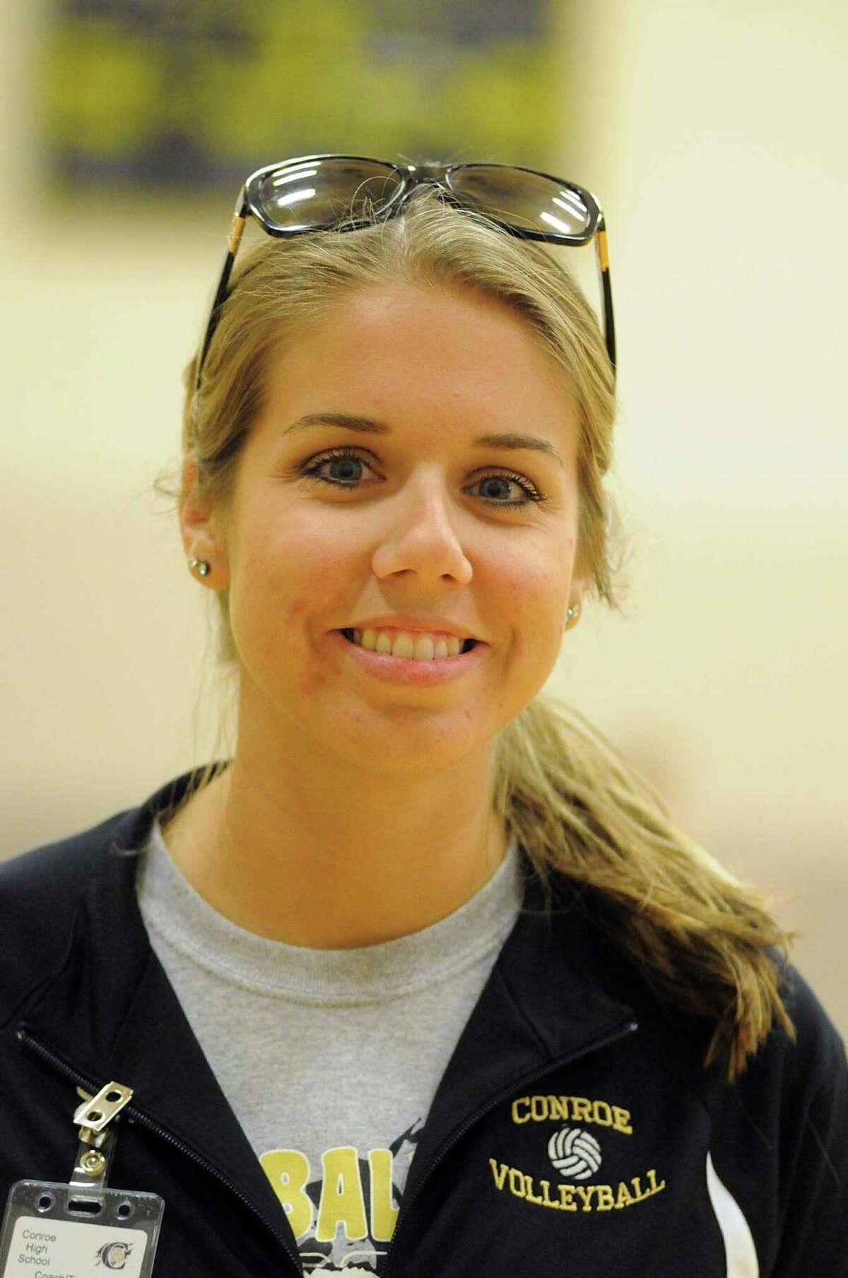 Conroe volleyball coach Lauren Leth