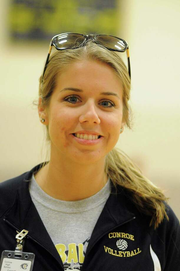 Conroe volleyball coach Lauren Leth Photo: David Hopper / freelance