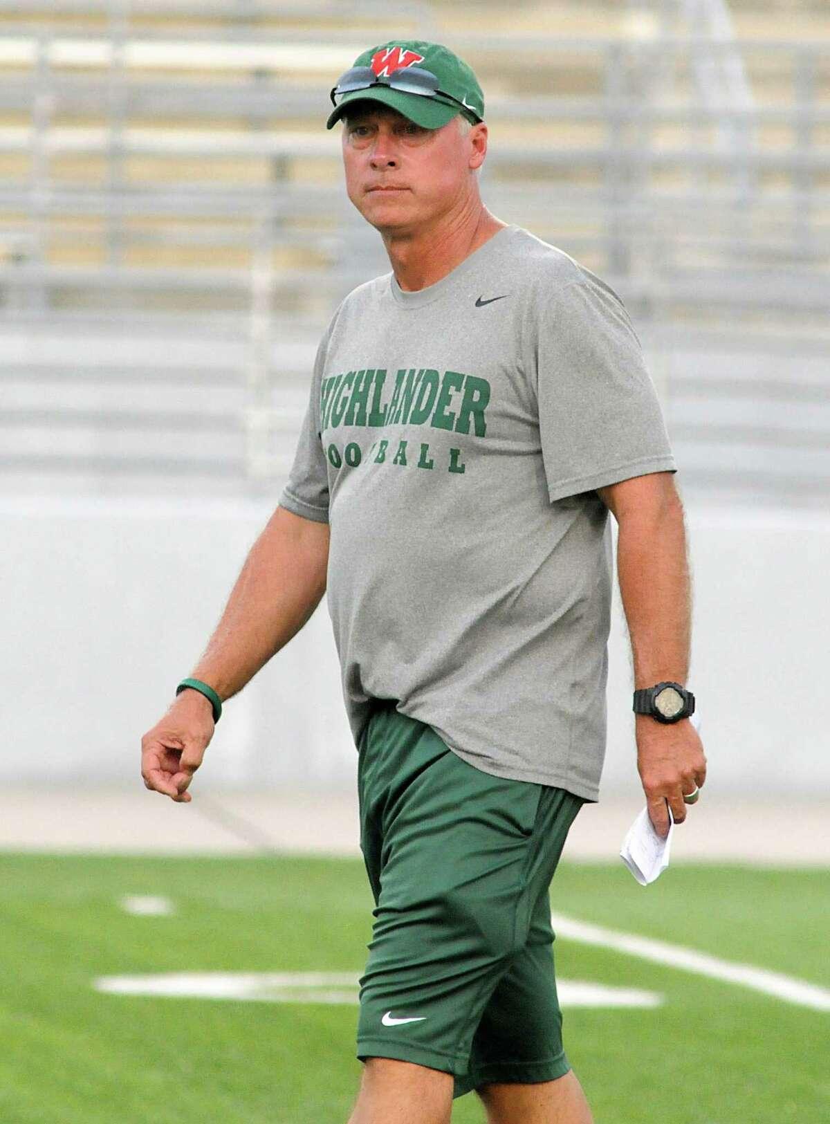 The Woodlands football coach Mark Schmid