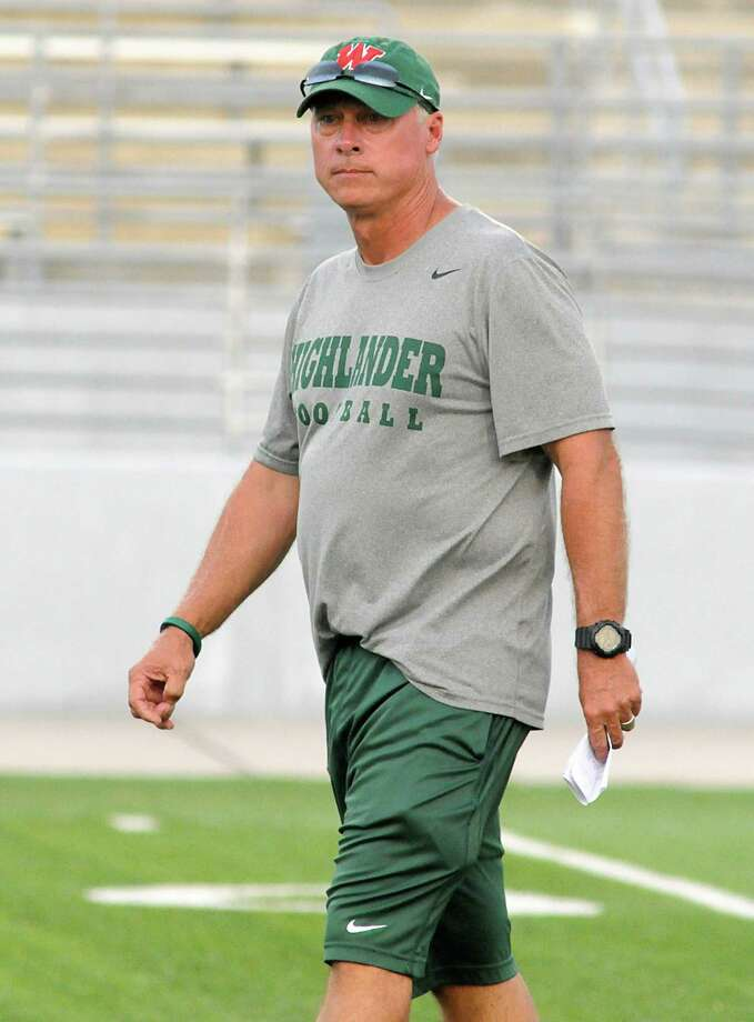 The Woodlands football coach Mark Schmid Photo: David Hopper / freelance