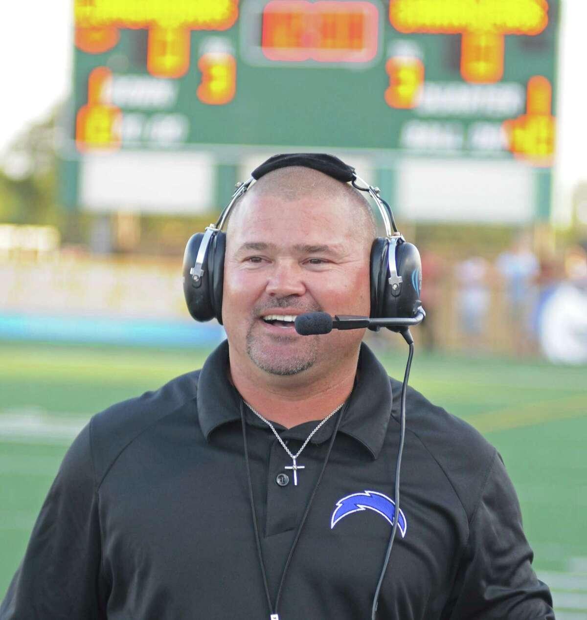 Clear Springs football coach Clint Hartman