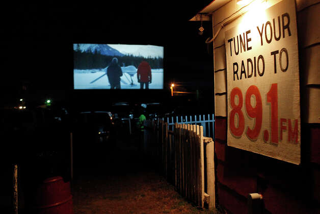 Bourne Legacy is the first of two movies being shown at the Brazos Drive-in Theatre in Granbury on Saturday, August 11, 2012. Photo: Lisa Krantz, San Antonio Express-News / San Antonio Express-News