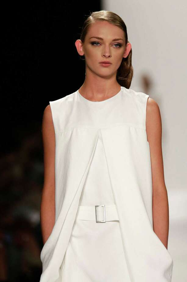 NEW YORK, NY - SEPTEMBER 07:  A model walks the runway at the Academy of Art University Spring 2013 fashion show during Mercedes-Benz Fashion Week  at The Theatre Lincoln Center on September 7, 2012 in New York City. Photo: Randy Brooke, Getty Images For Academy Of Art / 2012 Getty Images