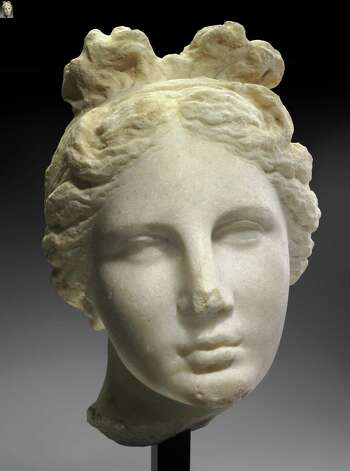 """Head of Aphrodite"" (The Bartlett Head), a Greek sculpture dating to about 330 BC Photo: Museum Of Fine Arts, Boston"